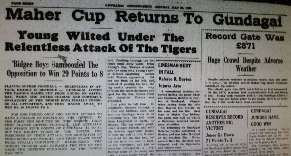Gundaga Times match report