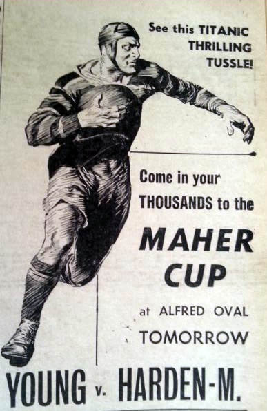 Advertisement for the 6 June 1964 match.