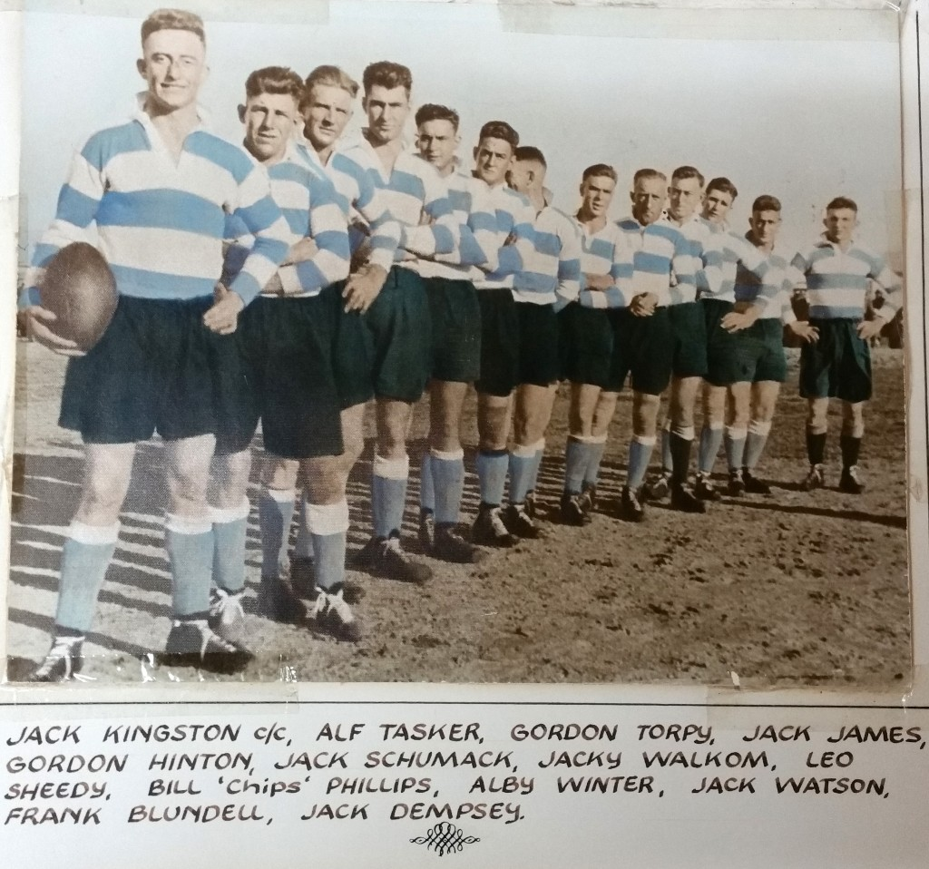 A Cootamundra Maher Cup team from 1930. Coota the cup for eight challenges.