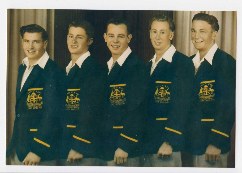 Harden players 1949. All played Maher Cup - Jack Phemister, Bruce Tozer, Ryan McCarthy, John Dowd, Don White