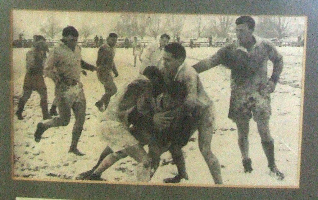 Match in snow Tumut v Grenfell 7 August 1965
