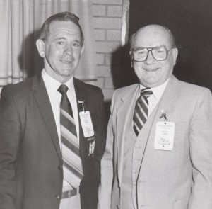 John O'Reilly with Eric Kuhn at a reunion at Harden.