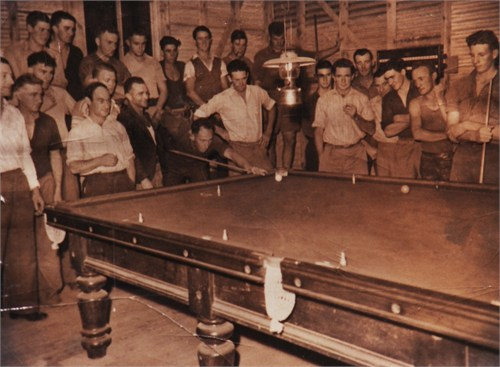 In the Gibsonvale Billiard Hall