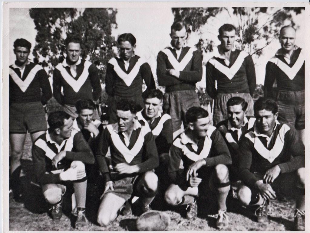 Wal Gavin in a Stockinbingal team far left back row