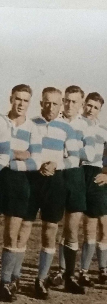 Bill 'Chips' Phillips second from left in the 1930 Cootamundra team