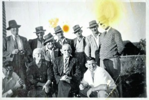 The nine brothers who remained after Abe's death, with parents Ethel and James G.