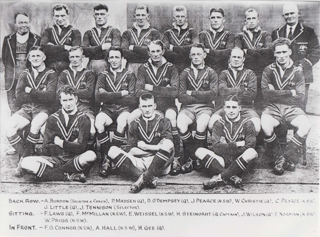 Sid sitting centre front in the 1932 Austalian team. Source: Wal Galvin collection