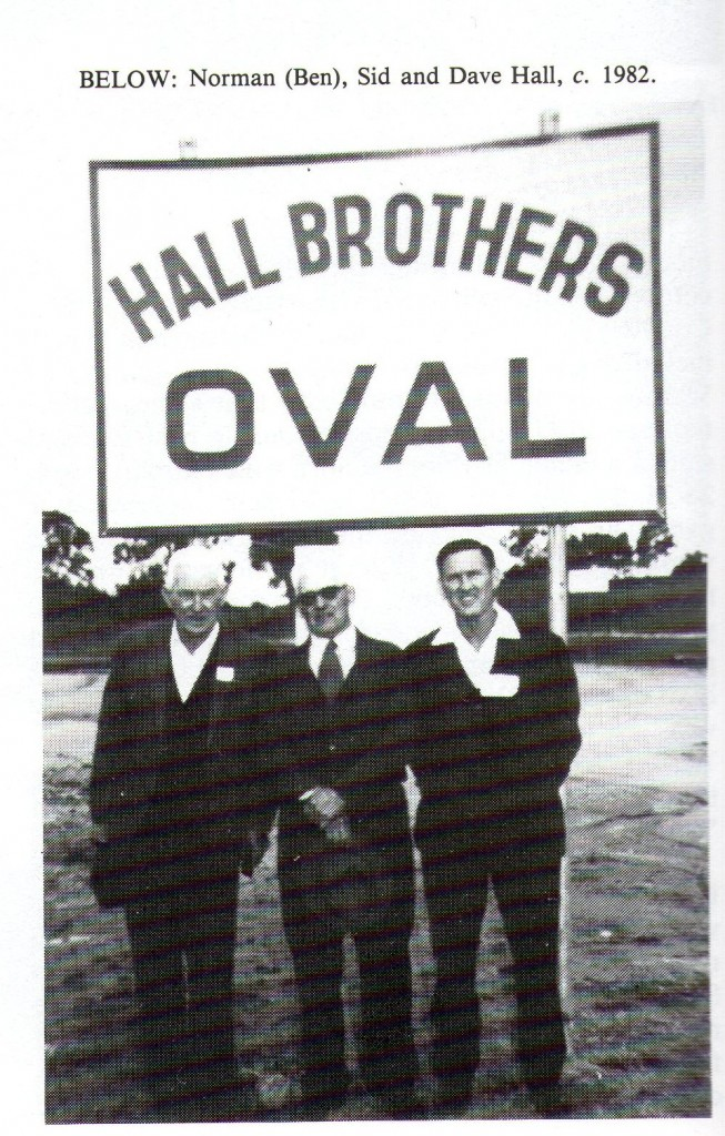 Ben, Sid & Dave at Hall Brothers Oval