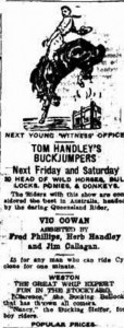 Tom Handley's Buckjumpers from Young Witness 1922
